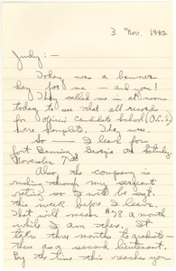 Thumbnail of Letter from Joseph Langland to Judith G. Wood Langland