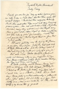 Thumbnail of Letter from Judy G. Wood Langland to Joseph Langland