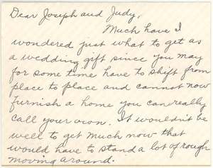 Thumbnail of Letter from Clara M. Langland to Joseph and Judith G. Wood Langland