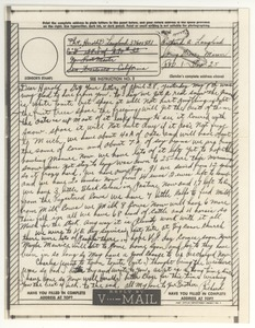 Thumbnail of V-mail from Richard A. Langland to Harold D. Langland