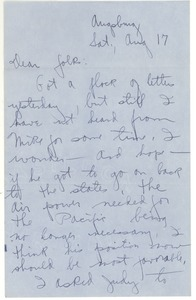 Thumbnail of Letter from Joseph Langland to Langland family