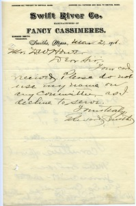 Thumbnail of Letter from Edward Smith to Donald W. Howe