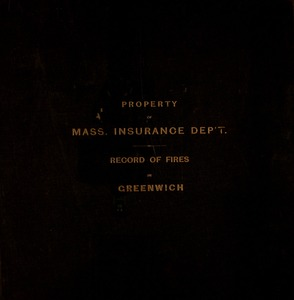 Thumbnail of Records of fires in Greenwich, Mass.