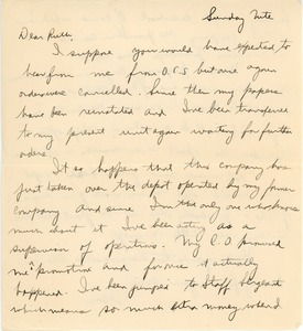 Thumbnail of Letter from Abraham Ozersky to Ruth Newman