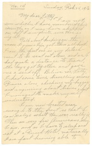 Thumbnail of Letter from Frank F. Newth to Letitia Crane