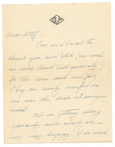 Thumbnail of Letter from Gertrude Landregan to Letitia Crane