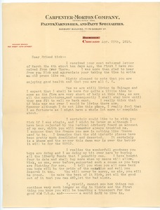 Thumbnail of Letter from Hal to Frank F. Newth