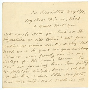 Thumbnail of Letter from Mathis Cushman to Frank F. Newth