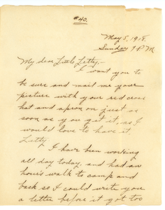 Letter from Frank F. Newth to Letitia Crane