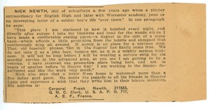 Thumbnail of Letter from Unknown to Letitia Crane