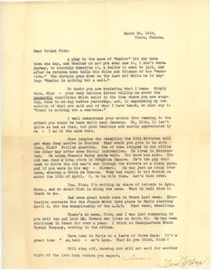 Thumbnail of Letter from Tom Power to Frank F. Newth