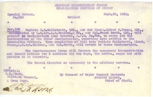Thumbnail of American Expeditionary Forces Special Orders