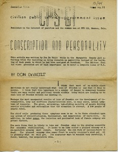 Thumbnail of Conscription and personality