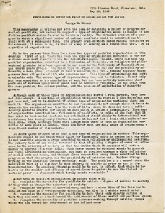 Thumbnail of Memorandum on effective pacifist organization for action