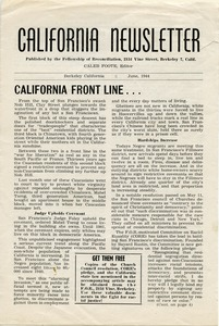 Thumbnail of California Newsletter