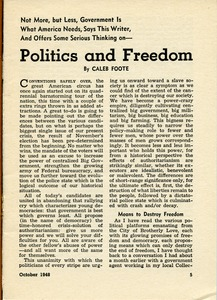 Thumbnail of Politics and freedom