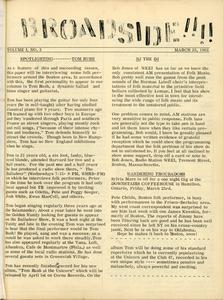 The Broadside. Vol. 1, no. 2 Boston's Folk Music and Coffee House News