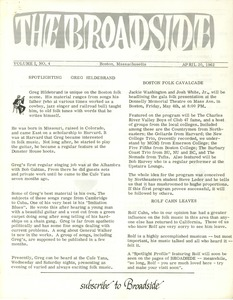 Thumbnail of The  Broadside Vol. 1, no.  4