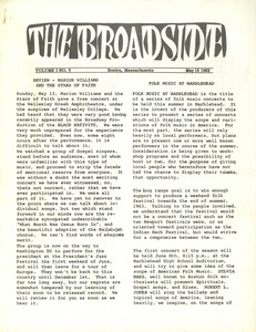 Thumbnail of The  Broadside Vol. 1, no.  6