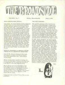 Thumbnail of The  Broadside Vol. 1, no.  7