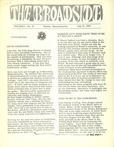 Thumbnail of The  Broadside Vol. 1, no.  10