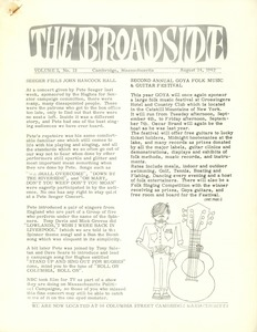 Thumbnail of The  Broadside Vol. 1, no.  13