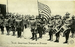 Thumbnail of First American troops in France