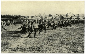 Thumbnail of A  German charge, fixed bayonets: photo taken from American lines, France