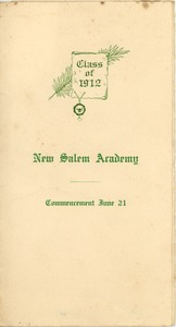 Thumbnail of Program for the 1912 commencement for New Salem Academy
