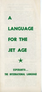 Thumbnail of A  language for the jet age: Esperanto, the international language