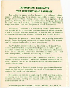 Thumbnail of Introducing Esperanto, the international language
