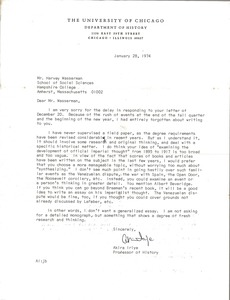 Thumbnail of Letter from Akira Iriye to Harvey Wasserman