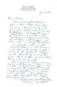 Thumbnail of Letter from Ernest J. Sternglass to Harvey Wasserman