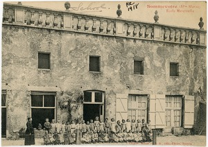 Thumbnail of Ecole maternelle Children gathered in front of a school