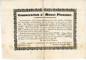Thumbnail of Consecration at Mount Pleasant