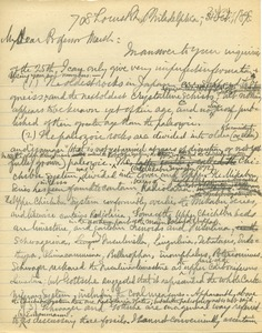 Thumbnail of Letter from Benjamin Smith Lyman to Professor Marsh