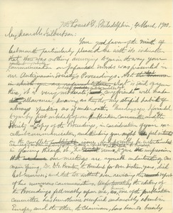 Thumbnail of Letter from Benjamin Smith Lyman to Edward Gilbertson