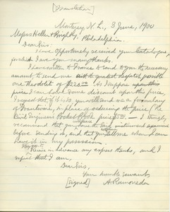 Thumbnail of Letter from A. Ramoneda to Messrs. Heller and Brightly