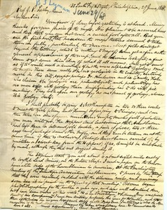 Thumbnail of Letter from Benjamin Smith Lyman to Prof. J. P. Lesley, Keene, N. H.