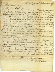 Thumbnail of Letter from Benjamin Smith Lyman to Aunt