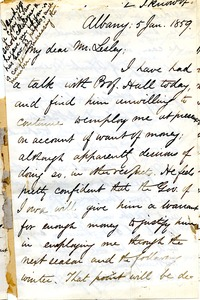 Thumbnail of Letter from Benjamin Smith Lyman to Mr. Lesley