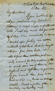 Thumbnail of Letter from Benjamin Smith Lyman to Susan Lesley