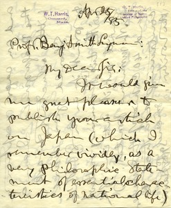 Thumbnail of Letter from William Torrey Harris to Benjamin Smith Lyman