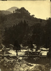 Thumbnail of View of village and mountain in Japan