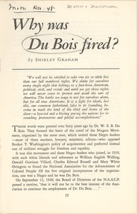 Thumbnail of Why was Du Bois fired