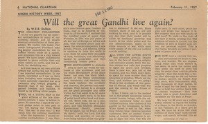 Thumbnail of Will the great Gandhi live again [fragment]