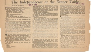 Thumbnail of The  independocrat at the dinner table