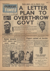 Thumbnail of The  Ghanaian times vol. VI no. 1,704