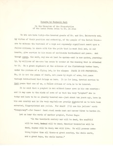 Thumbnail of Remarks by Rockwell Kent