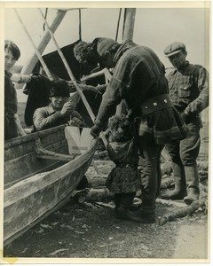 Thumbnail of Lapps in northern Norway, building a boat